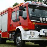 Powitanie nowego wozu strażackiego